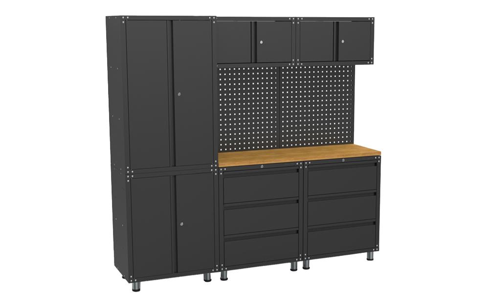 Garage cabinet system 9 piece set 3032   web1