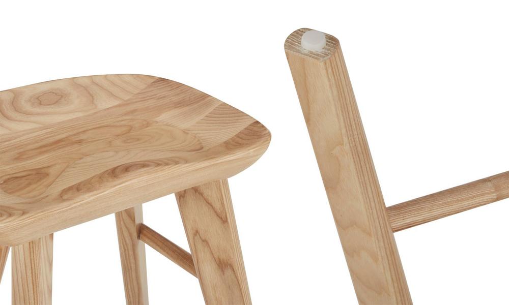 Natural saddle tractor kitchen bar stool   web4