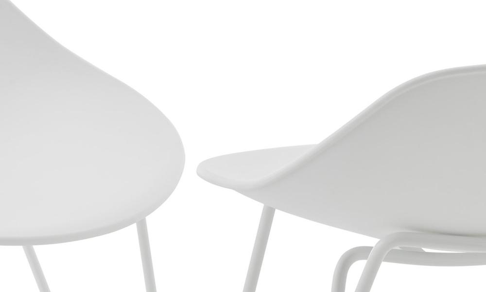 White barcelona mid back modern bar stools black 3042   web4