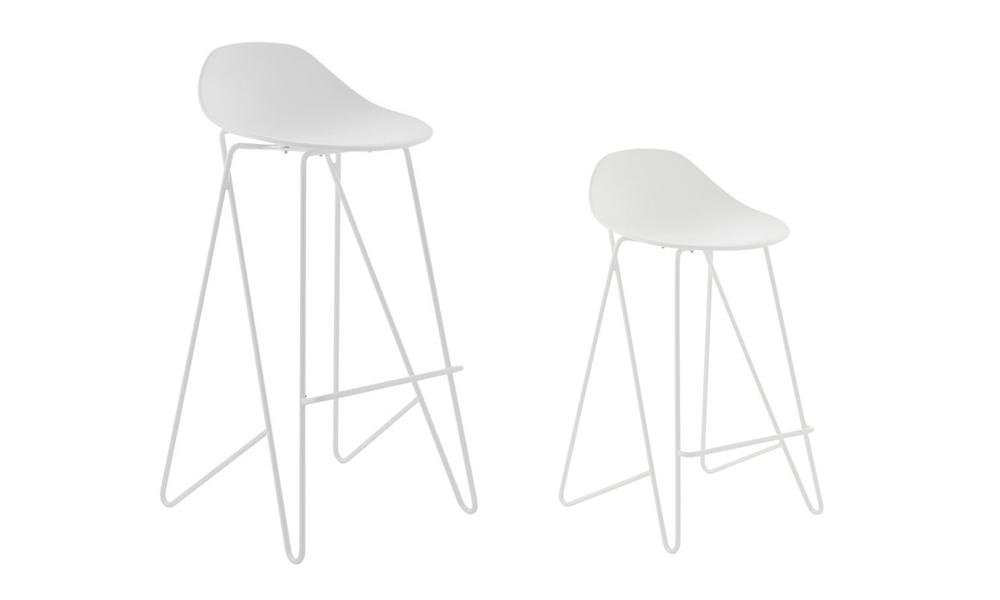 White barcelona mid back modern bar stools black 3042   web2