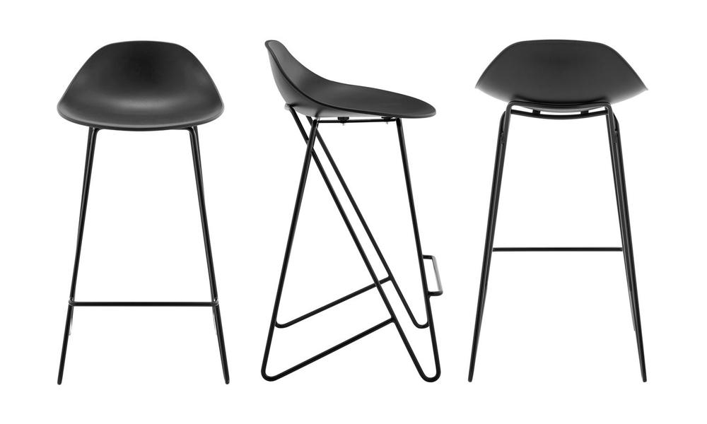 Black barcelona mid back modern bar stools black 3042   web3