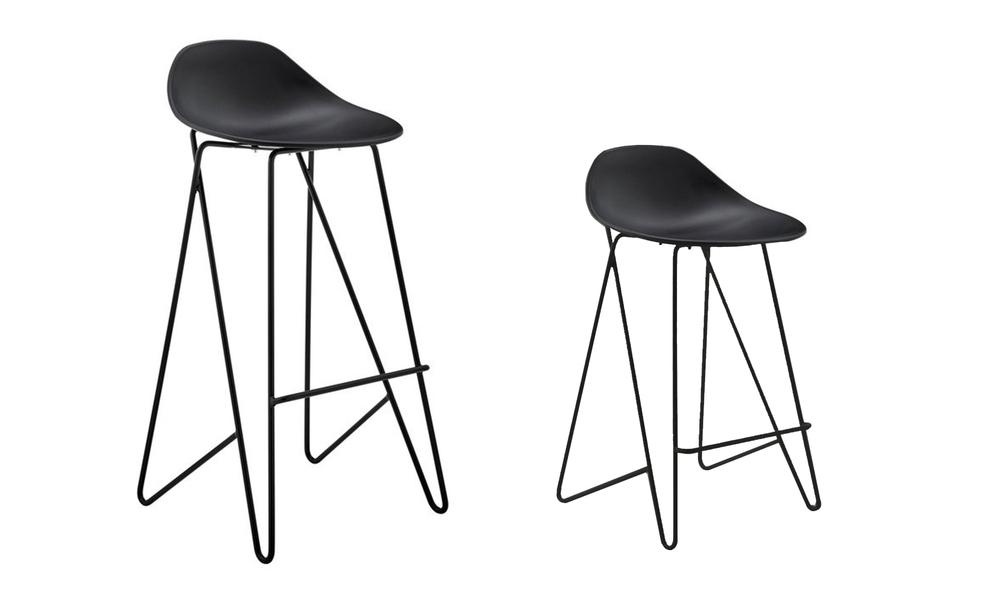 Black barcelona mid back modern bar stools black 3042   web2