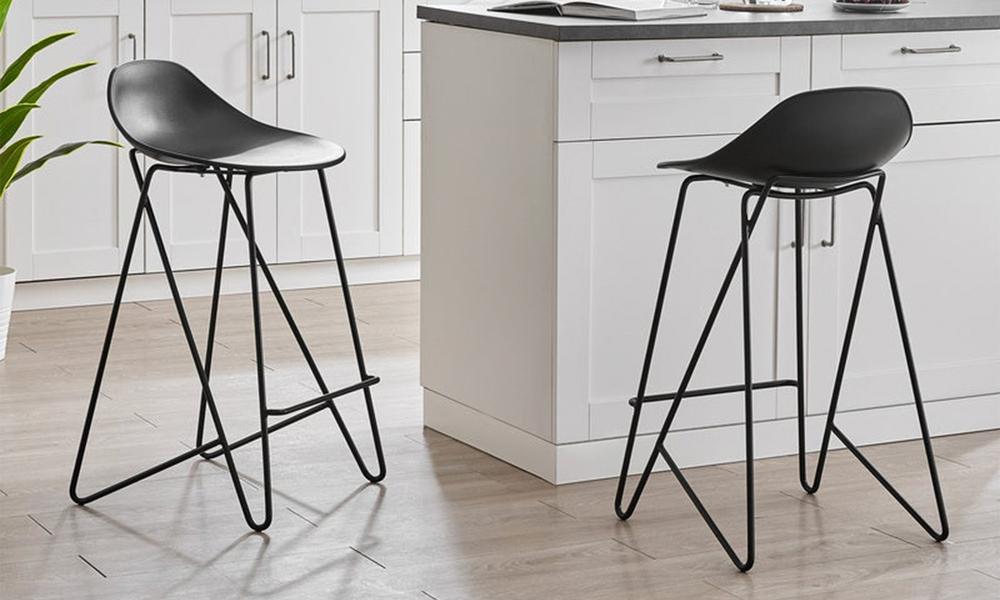 Black barcelona mid back modern bar stools black 3042   web1