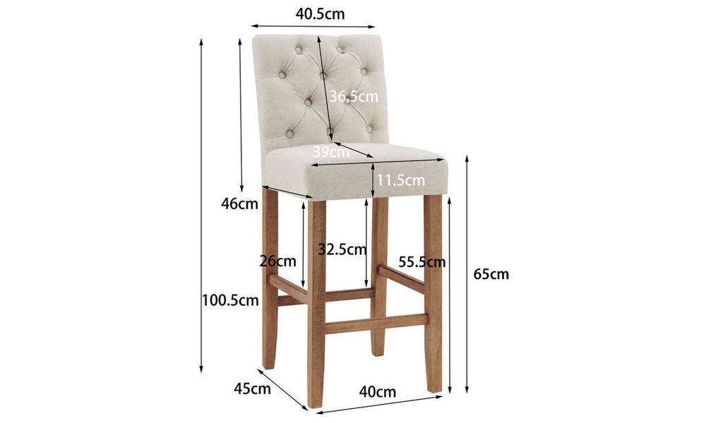 Beige belle provincial linen upholstered barstools 3040   web2