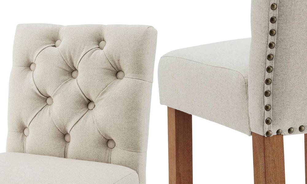 Beige belle provincial linen upholstered barstools 3040   web4