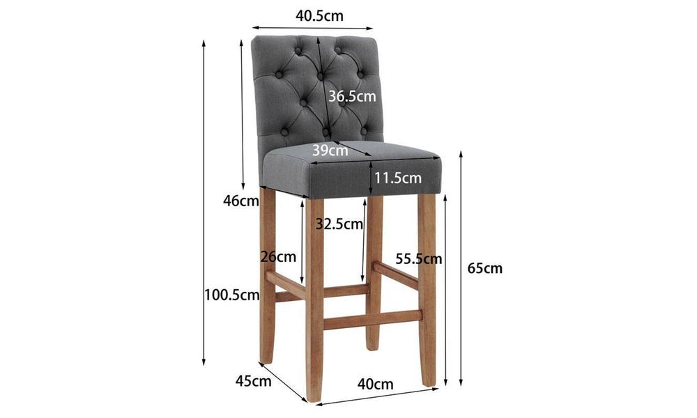 Grey belle provincial linen upholstered barstools 3040   web2