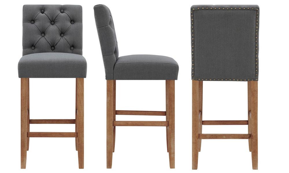 Grey belle provincial linen upholstered barstools 3040   web3