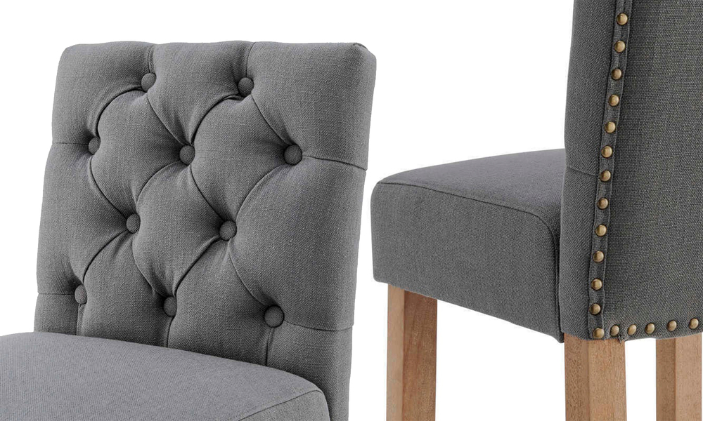 Grey belle provincial linen upholstered barstools 3040   web4