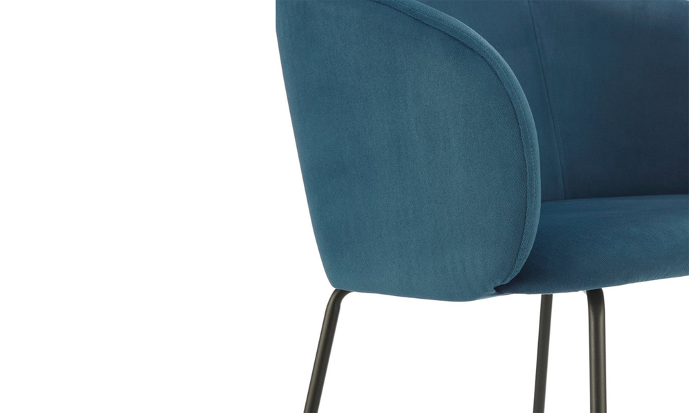Dark blue willow upholstered carver dining chair 3061   web5