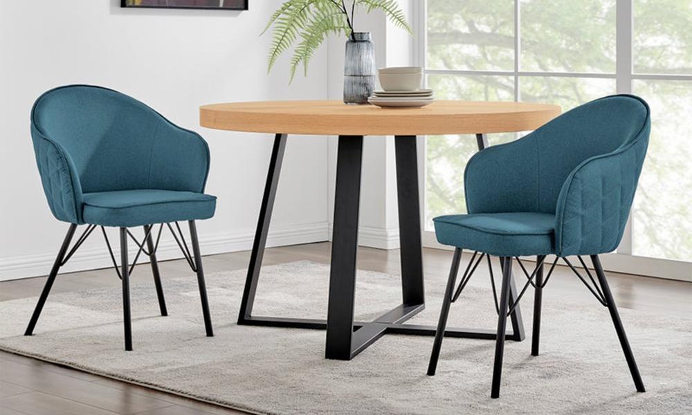 Blue lennon upholstered dining chair 3060   web1