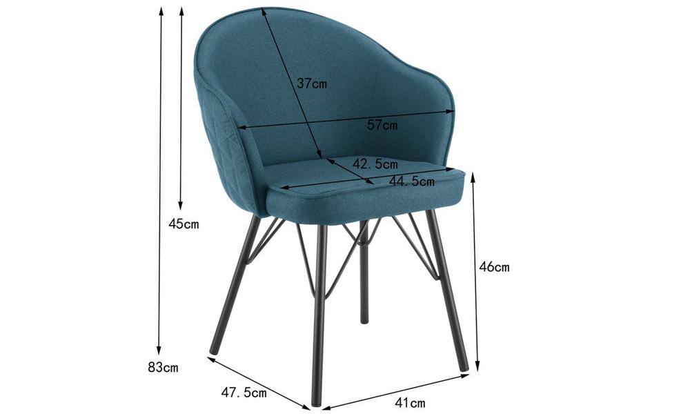 Blue lennon upholstered dining chair 3060   web2
