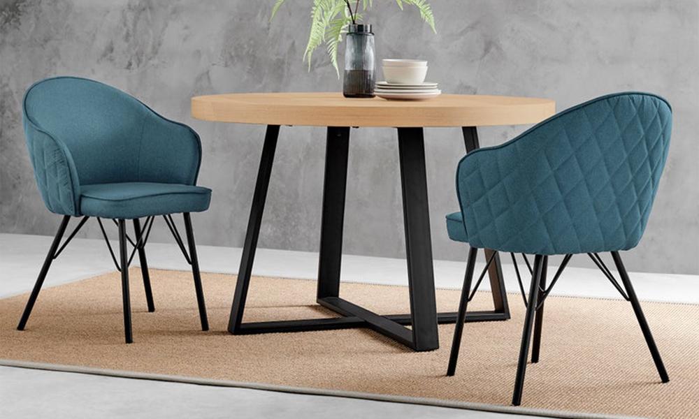 Blue lennon upholstered dining chair 3060   web5