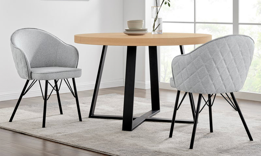 Grey lennon upholstered dining chair 3060   web1