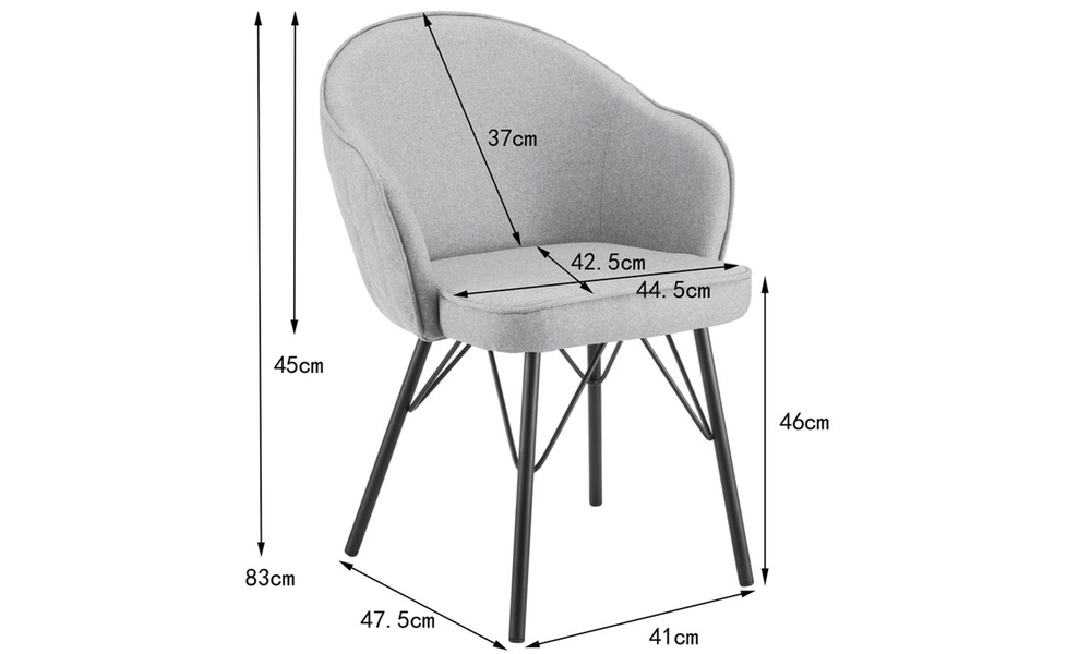 Grey lennon upholstered dining chair 3060   web2