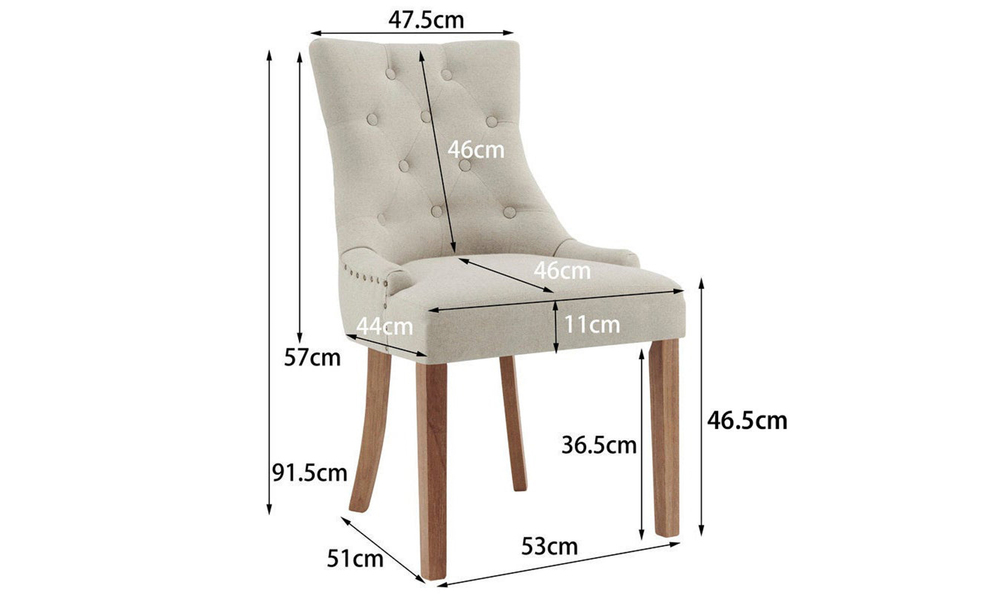 Beige belle scoop back provincial upholstered dining chairs 3052   web2