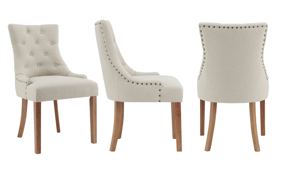 Beige belle scoop back provincial upholstered dining chairs 3052   web3