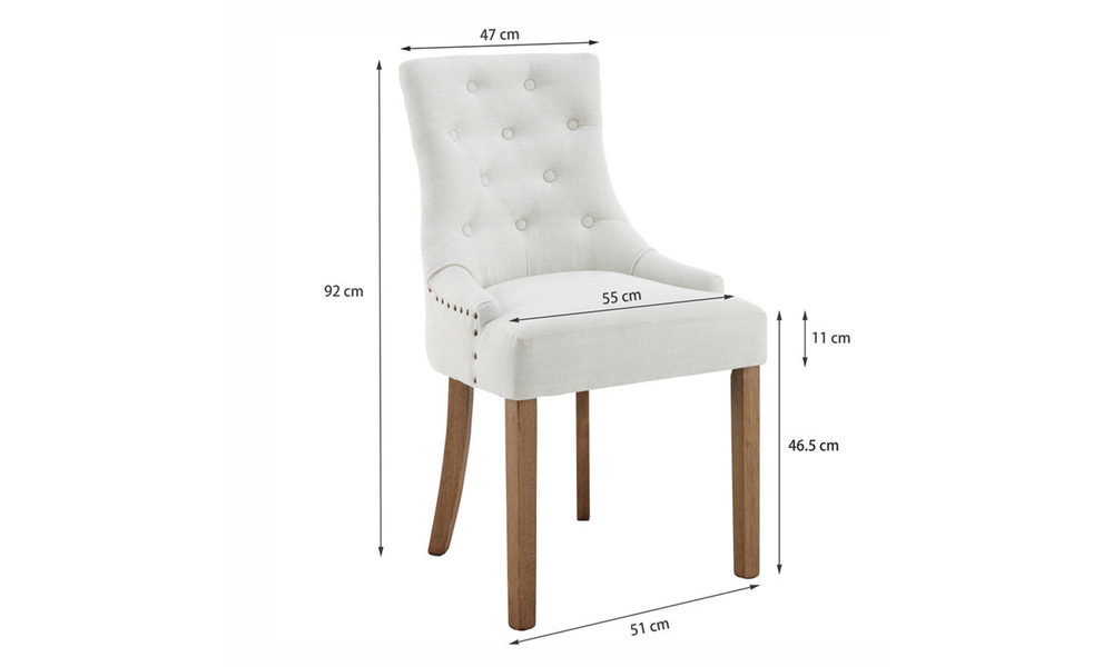 Ivory belle scoop back provincial upholstered dining chairs 3052   web2