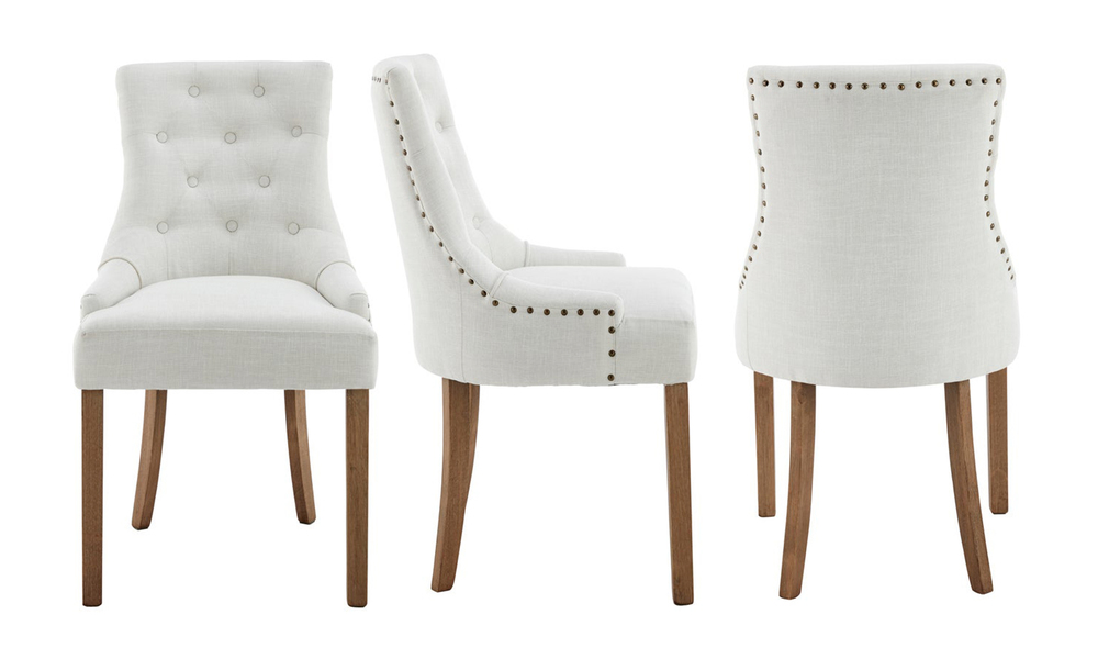 Ivory belle scoop back provincial upholstered dining chairs 3052   web3