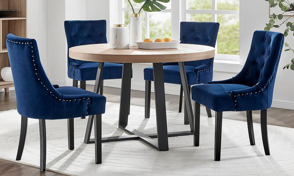 French navy belle scoop back provincial upholstered dining chairs 3052   web1