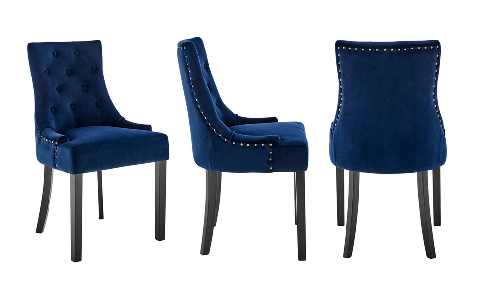 French navy belle scoop back provincial upholstered dining chairs 3052   web3
