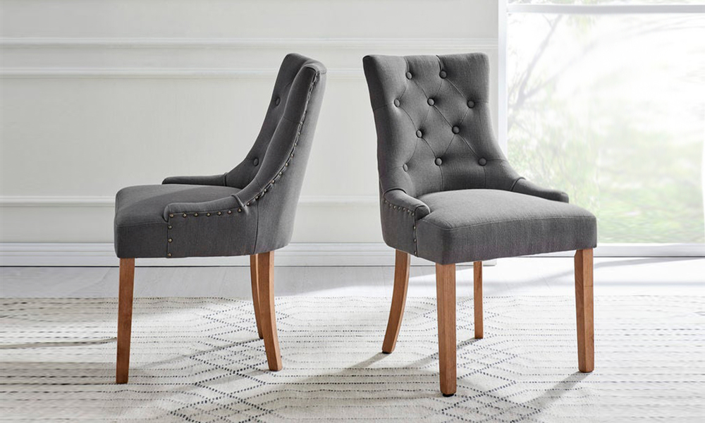 Grey belle scoop back provincial upholstered dining chairs 3052   web1