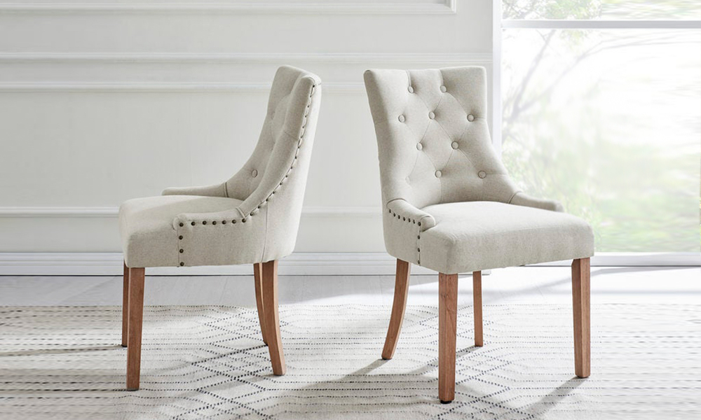 Beige belle scoop back provincial upholstered dining chairs 3052   web1