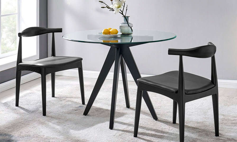 Black hans wegner replica elbow ch20 dining chair 3051   web1