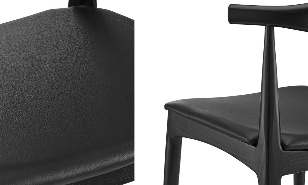 Black hans wegner replica elbow ch20 dining chair 3051   web4