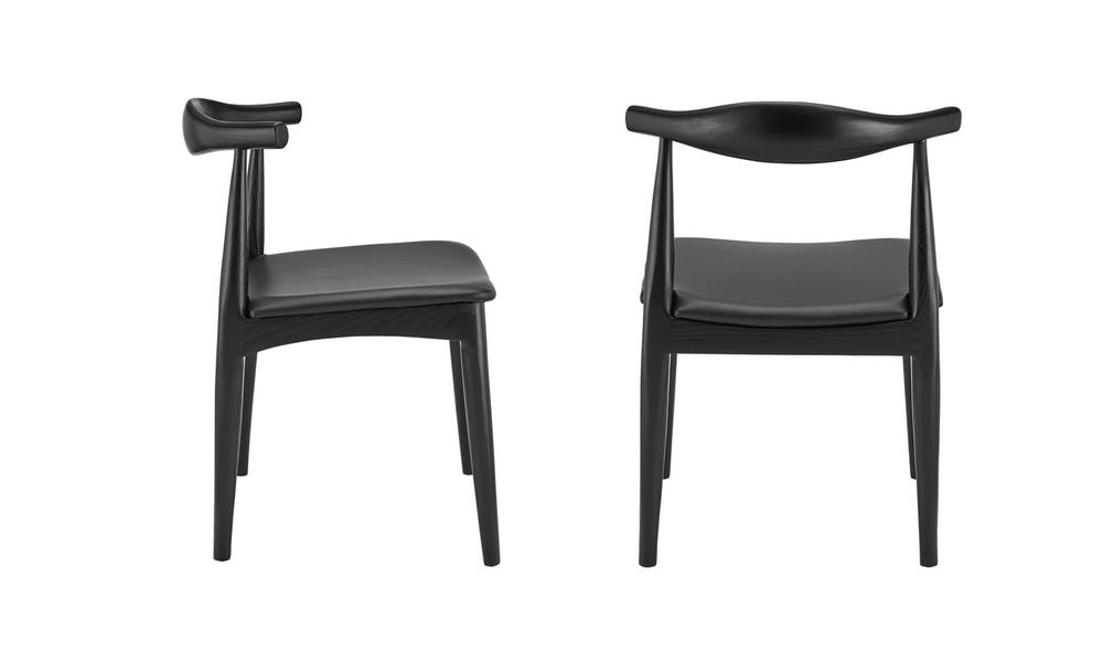 Black hans wegner replica elbow ch20 dining chair 3051   web3