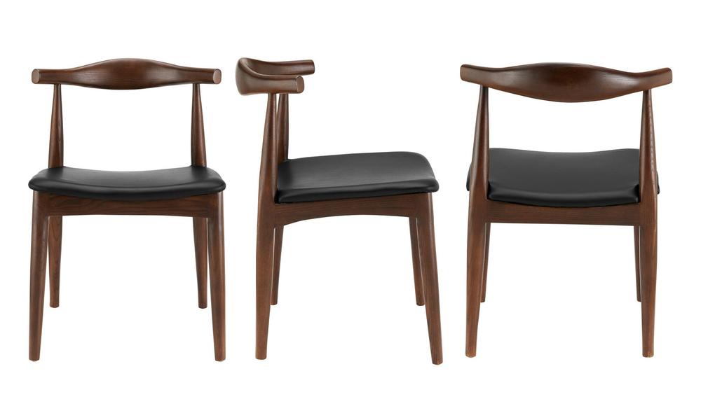 Dark brown hans wegner replica elbow ch20 dining chair 3051   web3