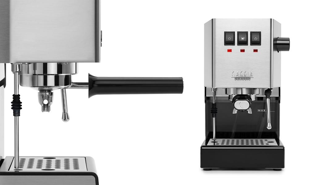 Stainless gaggia classic coffee machine   arabica beans 3030   web2