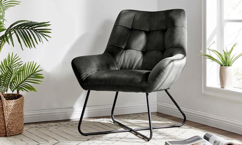 Dark grey dukeliving easton velvet resting armchair 3087   web1