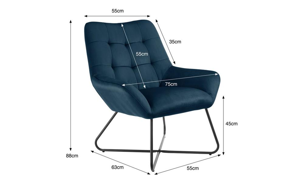 Navy dukeliving easton velvet resting armchair 3087   web3