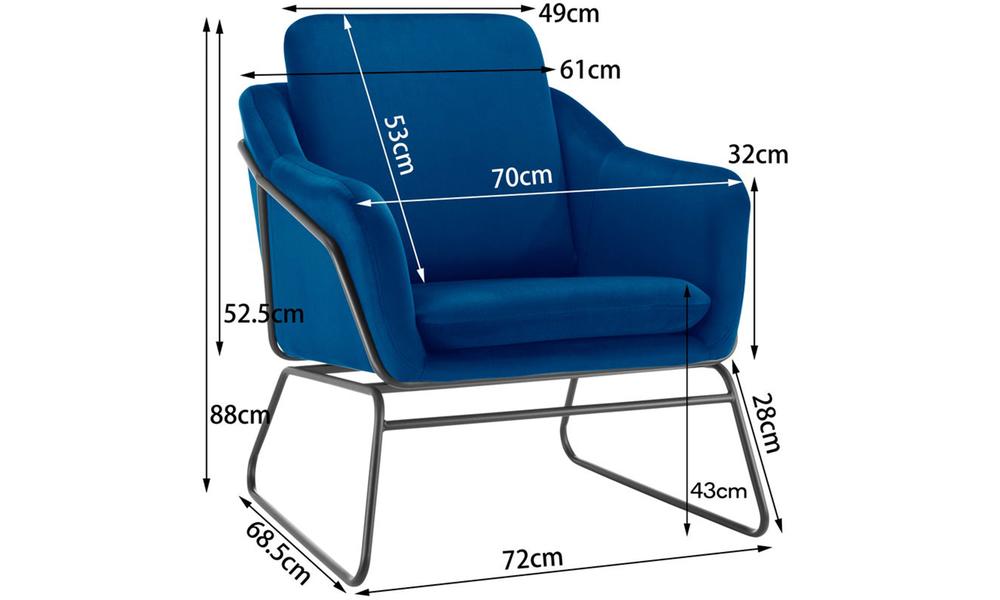 Dark blue dukeliving nashville velvet armchair 3093   web3