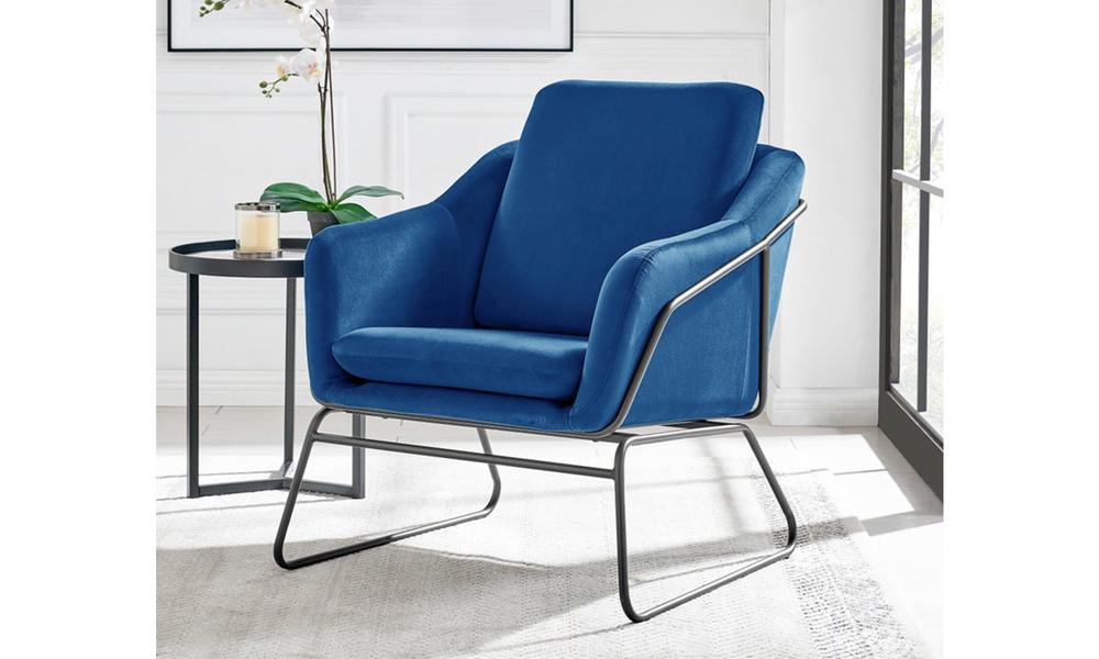 Dark blue dukeliving nashville velvet armchair 3093   web1