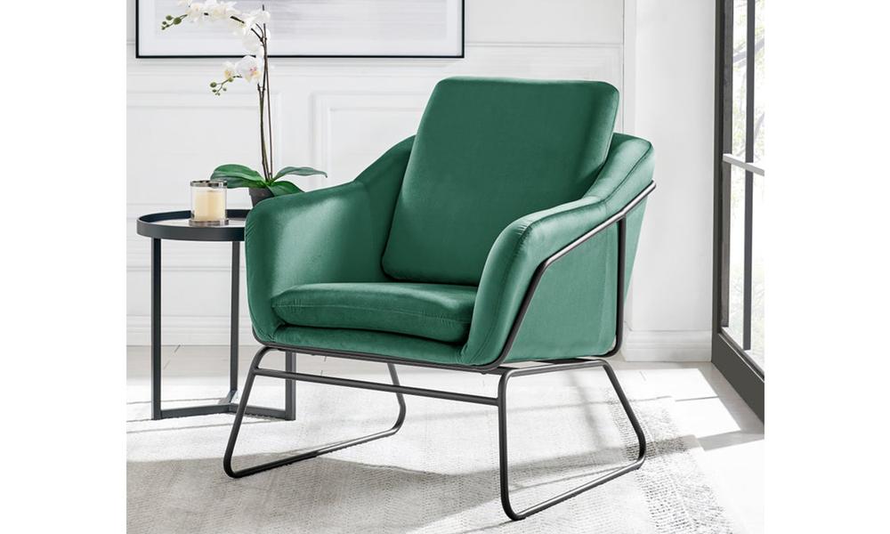 Dark green dukeliving nashville velvet armchair   web1