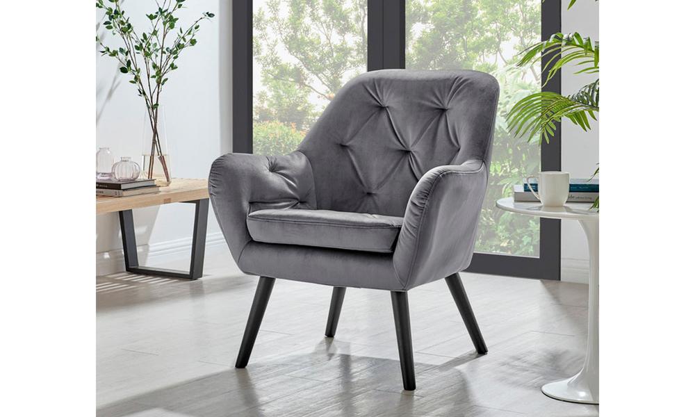 Grey dukeliving st. barts tufted velvet armchair 3097   web1
