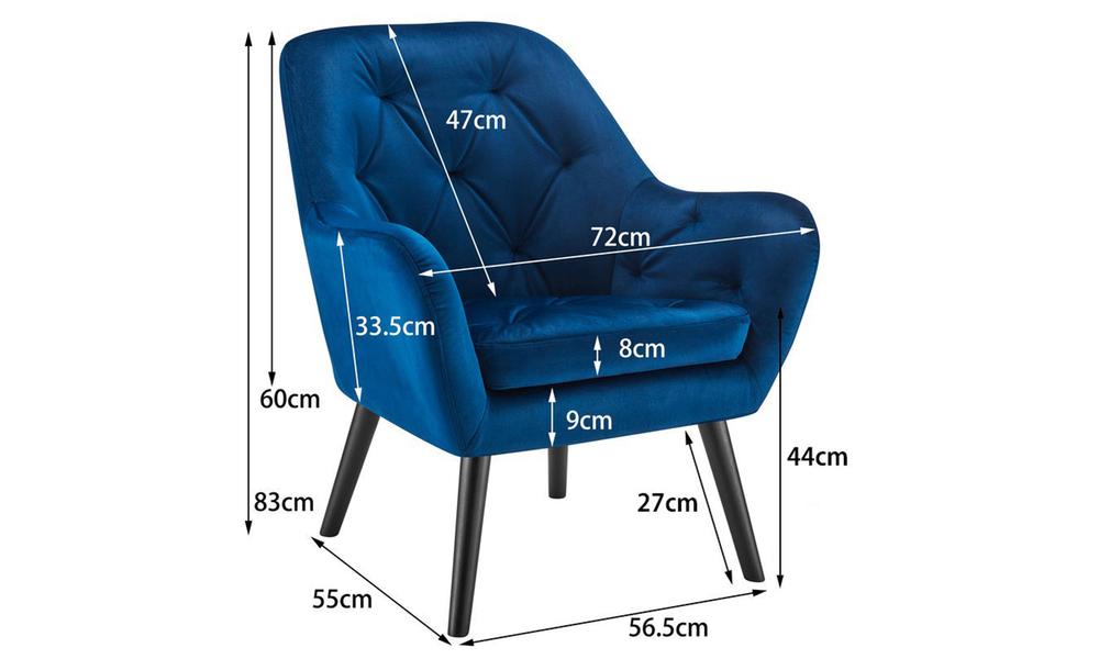 Dark blue dukeliving st. barts tufted velvet armchair 3097   web3