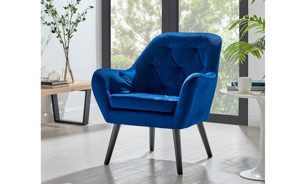 Dark blue dukeliving st. barts tufted velvet armchair 3097   web1