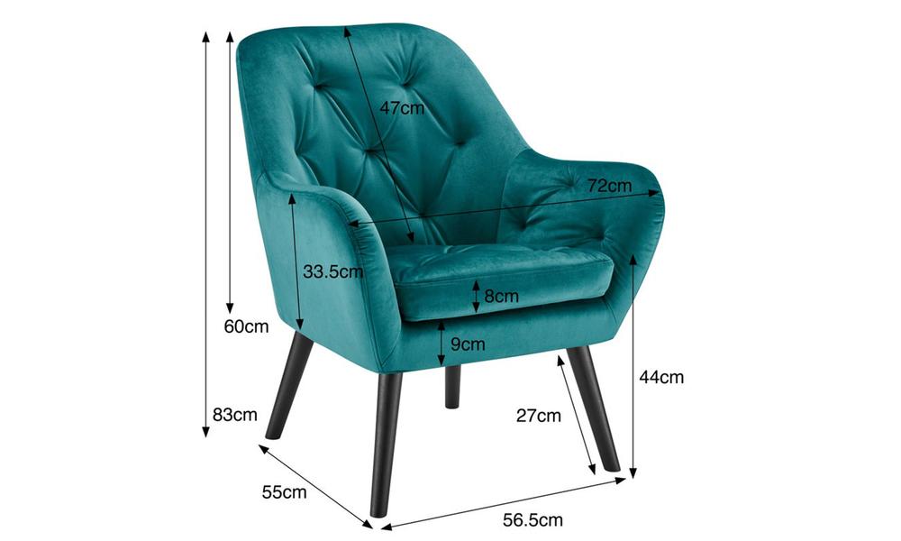 Teal dukeliving st. barts tufted velvet armchair 3097   web3