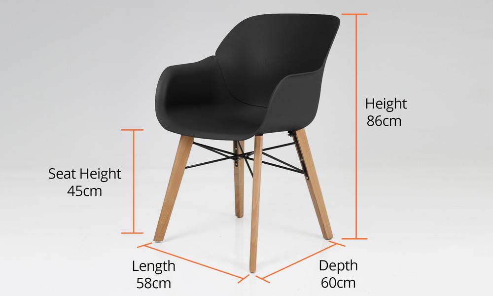 Dimensions harlow plastic tub chair 2701   web6