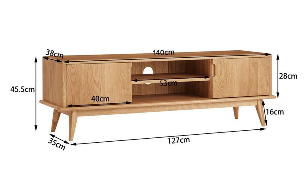 Dukeliving 140cm jakob oak tv unit 3775982 05