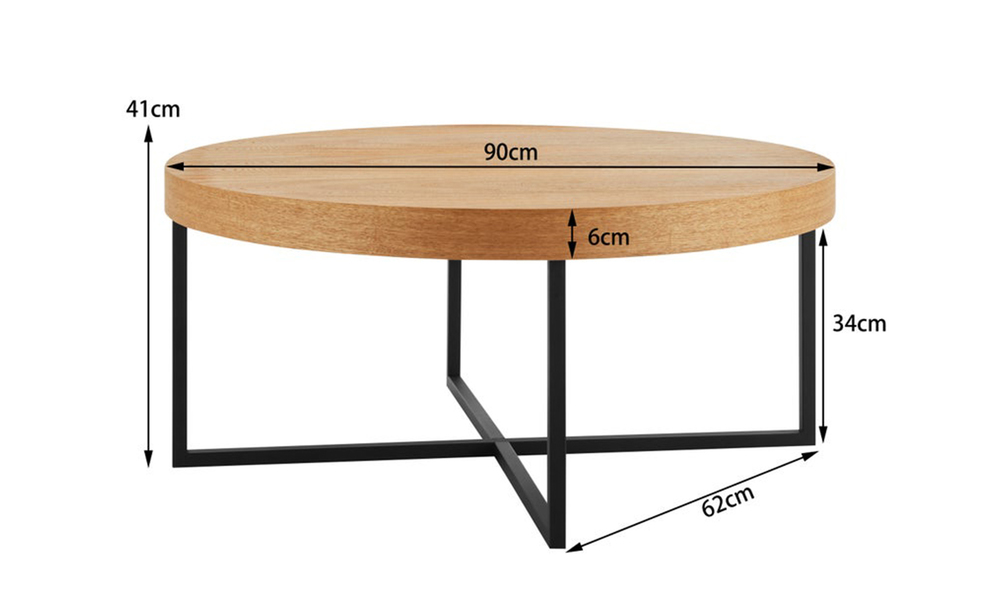 Dukeliving byron round coffee table elm pine 4056123 04