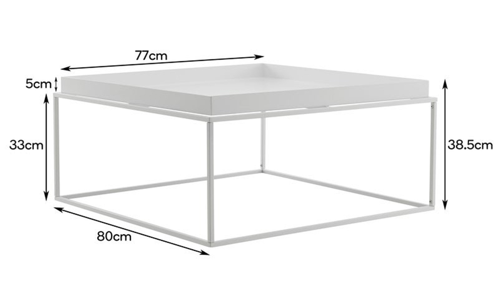 White dukeliving florence tray top steel side table 3100   web2