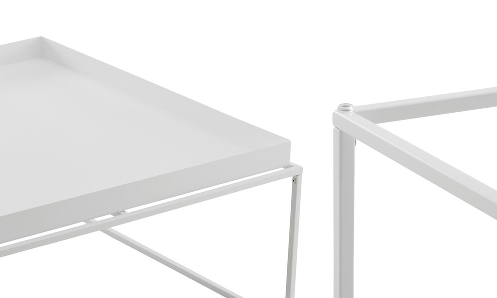 White dukeliving florence tray top steel side table 3100   web5