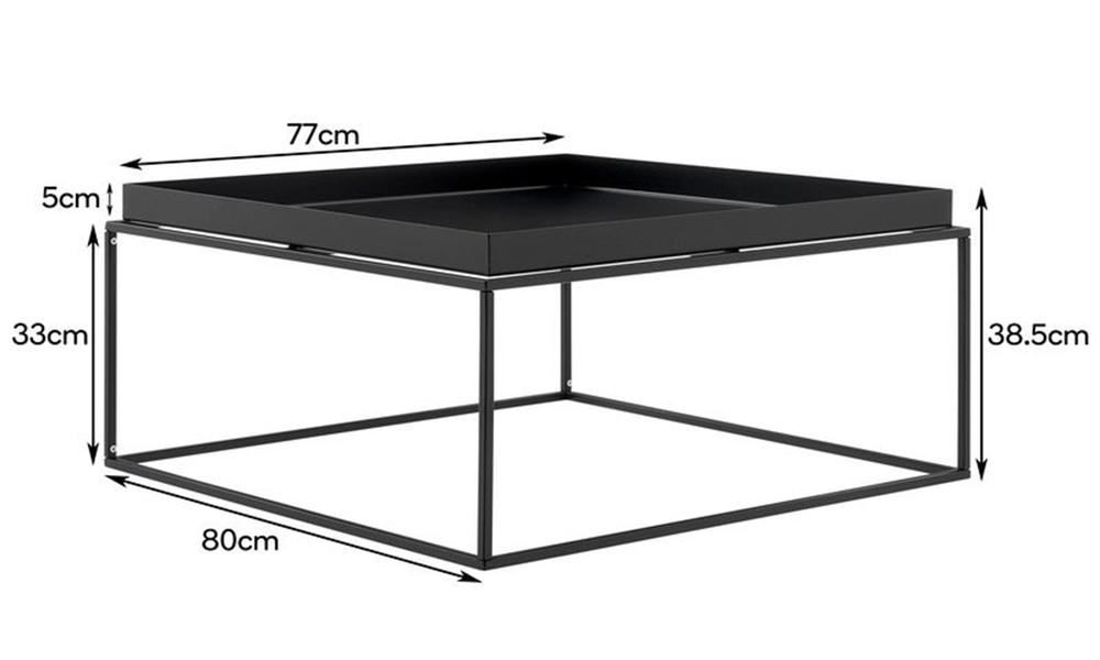 Black dukeliving florence tray top steel side table 3100   web2