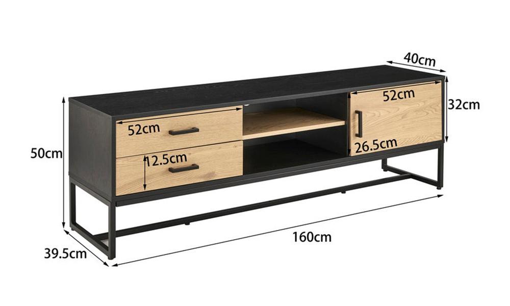 Dukeliving nordic 160cm entertainment unit 3271729 07