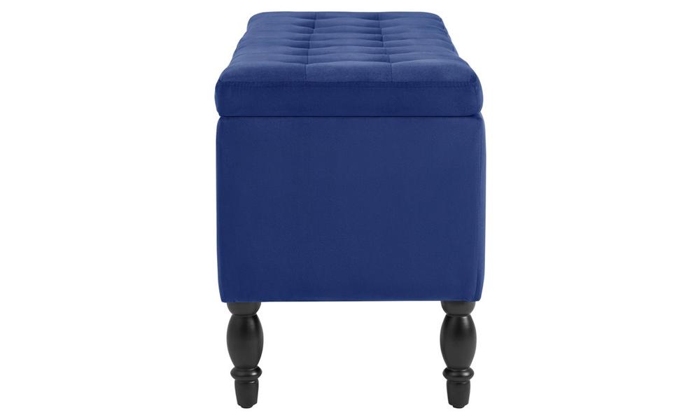 Dukeliving watson velvet luxe bed bench storage ottoman blue 3731330 05