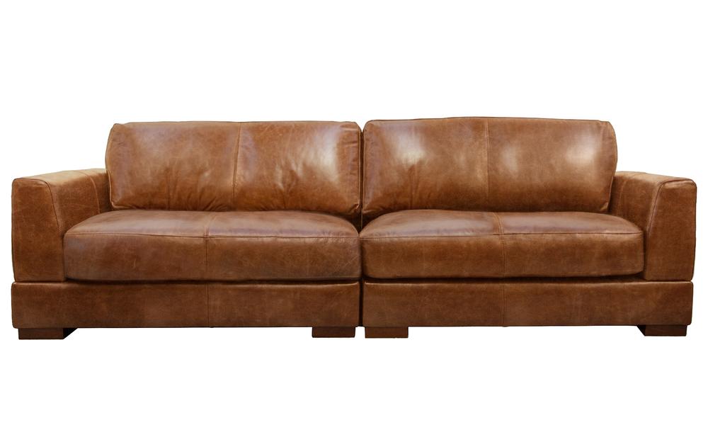 Pecan 4s milano leather sofa 2322   web