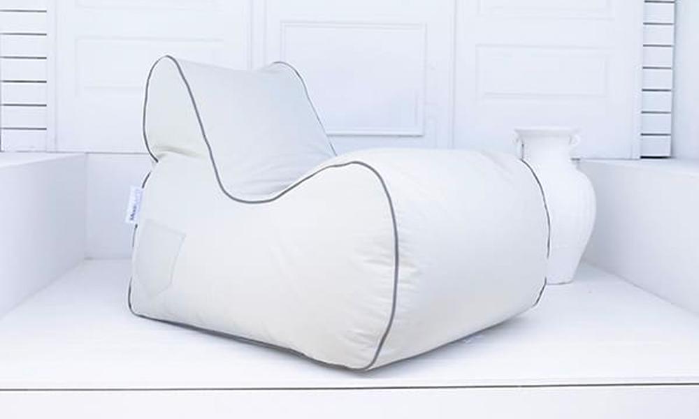 Linen grey bora bora bean bag chair 3231   web2
